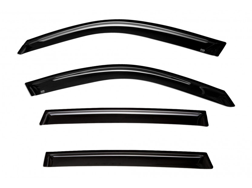 EGR 4 pieces Wind Deflectors Kit for BMW X5 E70 2007-2014