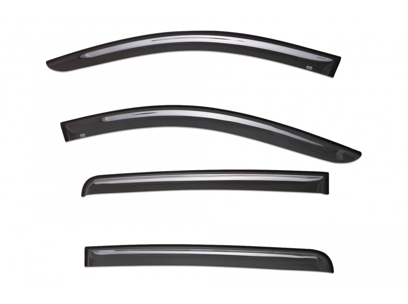 EGR 4 pieces Wind Deflectors Kit for Mitsubishi L200 double cab after 2015