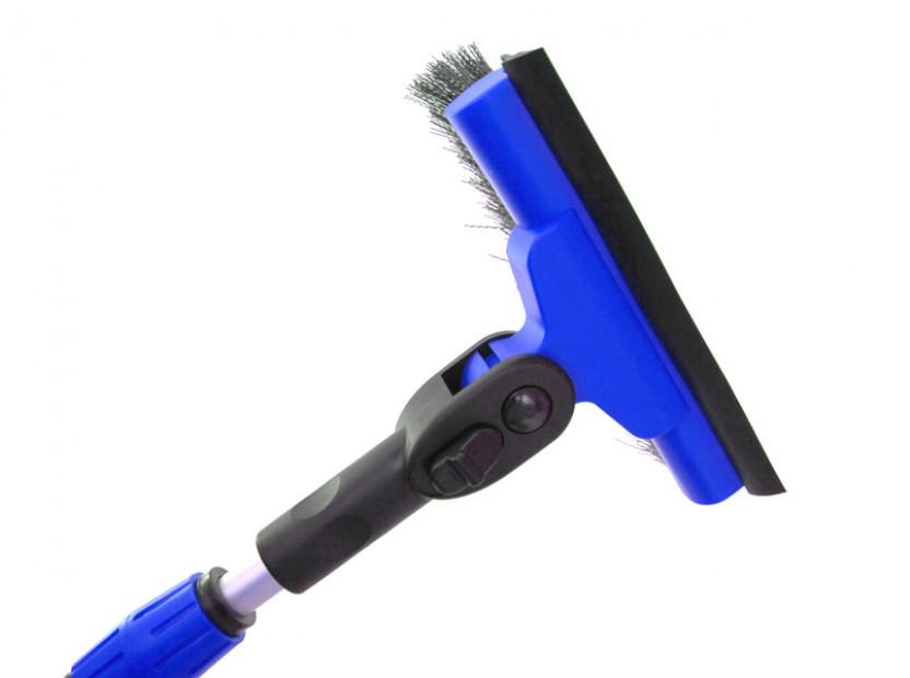 Стъргалка за лед с телескопична дръжка и движеща се на 90° четка за сняг Petex 86 см / 132 см  синя 5