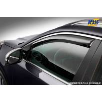 Предни ветробрани Gelly Plast за Nissan Navara 2005-2014 с 2 врати, черни, 2 броя