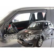 Предни ветробрани Heko за Suzuki Swift след 2017 година с 5 врати, тъмно опушени, 2 броя