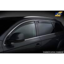 Комплект ветробрани Gelly Plast за Nissan Navara 2005-2014 с 4 врати, черни, 4 броя