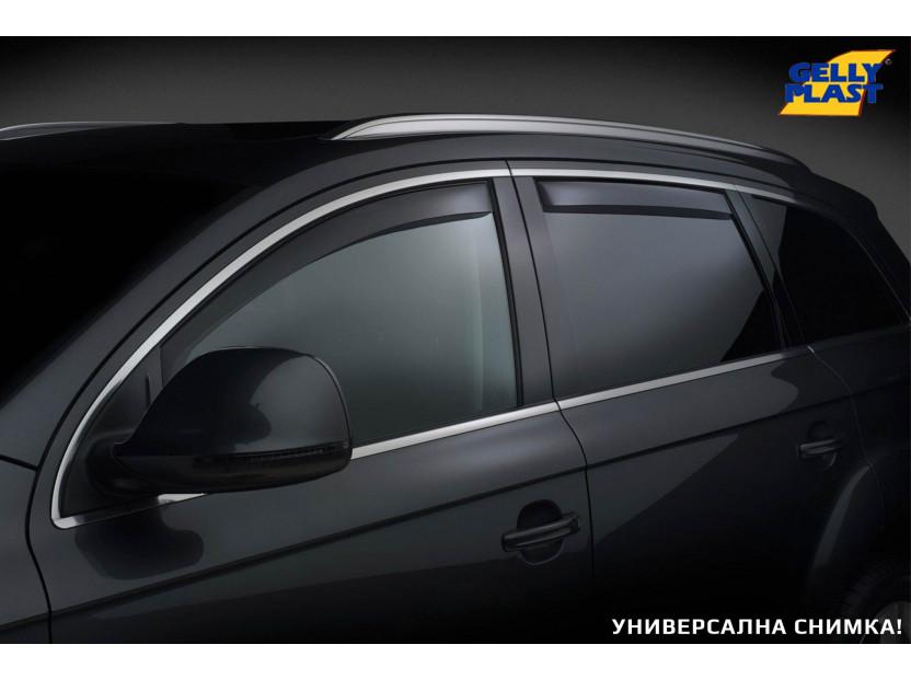 Комплект ветробрани Gelly Plast за Nissan X-trail T31 4 врати 2007-2013, 4 броя, черни 7
