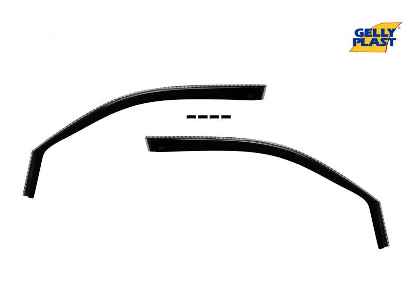 Комплект ветробрани Gelly Plast за Nissan X-trail T31 4 врати 2007-2013, 4 броя, черни 2