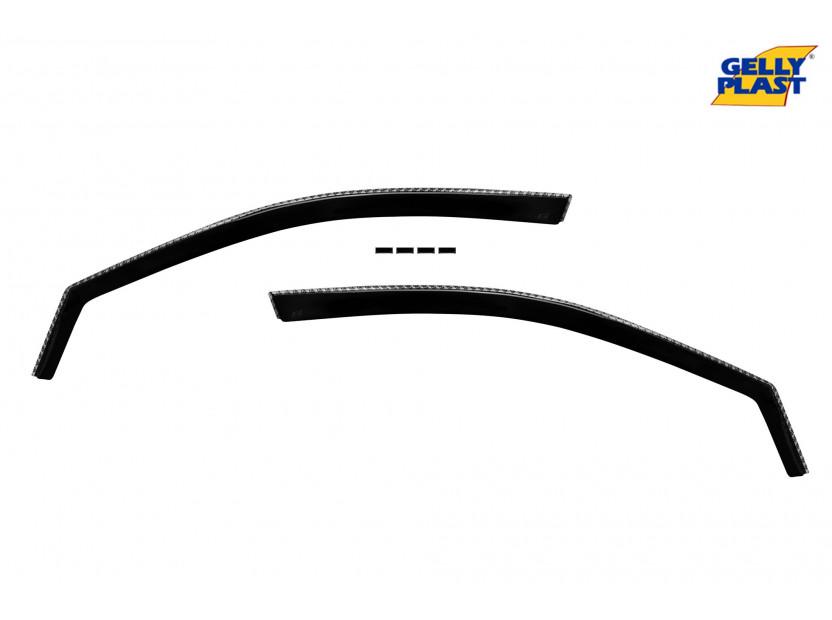 Комплект ветробрани Gelly Plast за Honda Civic хечбек 2001-2005, 4 броя, черни 2