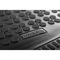 1-Гумена стелка за багажник Rezaw-Plast на Ford Tourneo Custom L1 след 2013 година къса база с 8, 9 места и вграден нагревател в задната част на автомобила, 1 част, черна